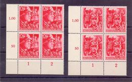 Dt. Reich 1945 - Die Letzten Marken 909/910 Im 4erBlock - Michel 320,00 € (950) - Unused Stamps