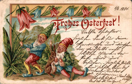 55690- Frohes Osterfest Osterhase Zwerge 1901 - Pâques