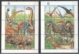 PK008 1995 GHANA PREHISTORIC ANIMALS DINOSAURS 2KB MNH - Preistorici