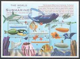 PK057 ANTIGUA & BARBUDA FISH & MARINE LIFE THE WORLD OF SUBMARINES 1KB MNH - Sottomarini