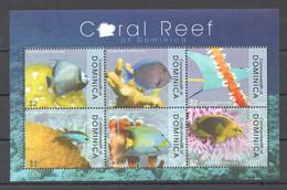 PK066 2009 COMMONWEALTH OF DOMINICA FISH & MARINE LIFE CORAL REEF OF DOMINICA 1KB MNH - Vita Acquatica