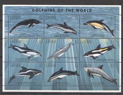 PK076 GAMBIA MARINE LIFE DOLPHINS OH THE WORLD 1KB MNH - Delfini
