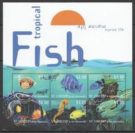 PK110 ST.VINCENT FISH & MARINE LIFE TROPICAL FISH 1KB MNH - Vie Marine