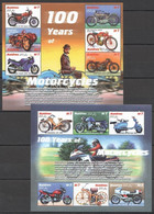 PK356 MALDIVES TRANSPORTATION 100 YEARS OF MOTORCYCLES 2KB MNH - Moto