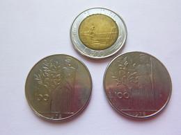 Lot De 3 - Italie Italia - 100 Lire 1978 (x2) - 500 Lire 1985 (x1) - Pièce Monnaie Coin - Unclassified