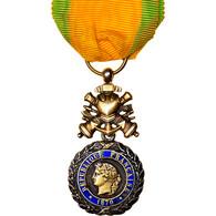 France, Troisième République, Valeur Et Discipline, Médaille, 1870, Excellent - Other