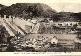 Dernière Vue Prise Du Village De Chambon Avant Sa Submersion - Mars 1935 - Altri Comuni