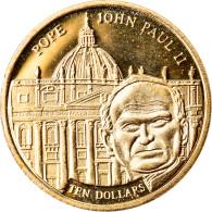 Monnaie, Liberia, Jean-Paul II, 10 Dollars, 2003, FDC, Or - Liberia