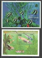 G818 SIERRA LEONE FISH & MARINE LIFE FAUNA TWO-STRIPED PANCHAX ANGELFISH SINGAPORE 2BL MNH - Vie Marine