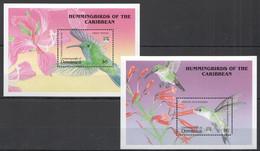 VV554 1992 DOMINICA FAUNA BIRDS HUMMINGBIRDS 2BL MNH - Colibris