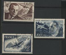 POSTE AERIENNE N° 21 à 23 Cote 10,30 € Oblitérés. - 1927-1959 Used