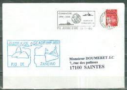 MARCOPHILIE - JEANNE D'ARC GEORGES LEYGUES RIO DE JANEIRO Flamme Du P.H. Du 13 - 1 - 00. - Posta Marittima