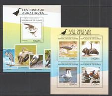 ST703 2014 GUINEE GUINEA FAUNA WATER BIRDS OISEAUX AQUATIQUES KB+BL MNH - Altri