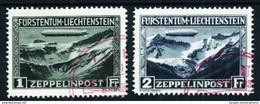 Liechtenstein Nº A-7/8 Usado Cat.525€ - Air Post