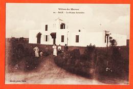Tues136 ♥️ Peu Commun  SALE Maroc La Maison Forestière Animation Famille Colons 1910s Photo SCHMITT Rabat - Sonstige