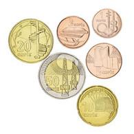 Azerbaijan Set Of Coins 2006 UNC 6 Coins 1 3.5 10.20.50 Qepiks - Azerbaïjan