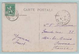 Militair, Militaire Post Van 1915, Uit Rousbrugge-Haringhe Naar Mers Les Bains - Otros Cartas