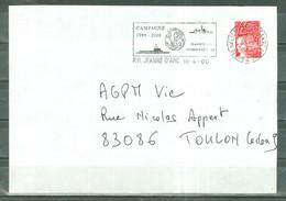 MARCOPHILIE - P.H. JEANNE D'ARC  Flamme Du P.H. Du 10 - 4 - 00. - Poste Navale