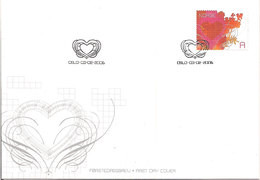 Norway 2006 Valentine Day, Bleeding Love Mi 1560, FDC - FDC