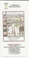 MONACO PROGRAMME MUNEGU XVIII S  8 Aout 2009 - Programmi