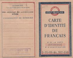 """1944 ÉTAT FRANÇAIS - Carte D'identité Pour Jeanne CARRIER, Vve CLEMENT - Avec """"Application De L'article 10 DE LA LOI Du - Documentos Históricos"""