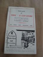 Ancien Guide PORNIC/LE CLION Sur MER/44/Horaire,pubs,cinéma,casino Voyages MASSOUBRE  Autocar - Toeristische Brochures
