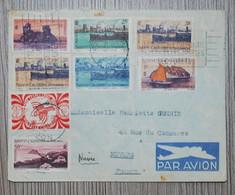 1949 - Nouvelle Calédonie - Lettre Avec 8 Timbres (voir Photos Et N°) De Nouméa Pour Nevers - Covers & Documents