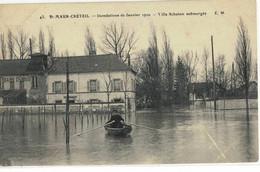 CPA   ST- MAUR - CRETEIL  Inondation Janvier 1910, Villa Schaken Submergée  N° 43 - Saint Maur Des Fosses