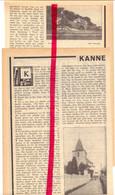 Orig. Knipsel Coupure Tijdschrift Magazine - Artikel Kanne - Kerk, Kasteel - 1929 - Unclassified