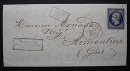 Avignon 1856 Fonderie St Roch à La Gare De La Petite Hôtesse, Perre Pierson, Belle Gravure En Tête à Voir ! - 1849-1876: Classic Period