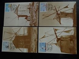 "Portugal - Série De 4 Cartes Maximum  ""moulins""  De 1989 - Windmills"