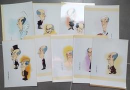 9 PHOTOs Argentique 30x21 Caricature Louis De Funés Cinéma - Zonder Classificatie