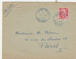 MARTINIQUE GANDON 15F SEUL SUR LETTRE AVION MORNE ROUGE CACHET BLEU 17/9/1949 POUR PARIS - Non Classificati