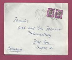 Lettre De 1967 Pour L' Allemagne. YT N° 157 En Paire - Armoirie - Storia Postale