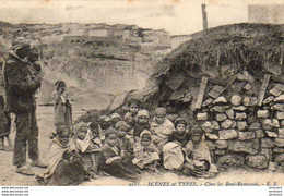ALGERIE  SCENES ET TYPES  Chez Les Beni-Ramassés  ..... ( Ref FA1433 ) - Scene & Tipi