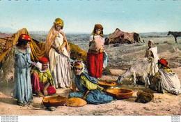 ALGERIE  SCENES ET TYPES  Un Groupe De Nomades  ..... ( Ref FA1640 ) - Scene & Tipi