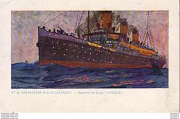 "PAQUEBOTS  Cie De Navigation Sud- Atlantique- Paquebot De Luxe "" Lutetia ""  ... - Piroscafi"