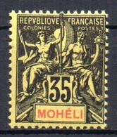 ColTGC Moheli N° 9  Neuf XX MNH  Cote 26,00 € - Nuevos