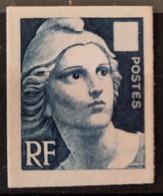 France 1949 Marianne De Gandon  Réimpression Sur Papier Carton Sans Valeur, Signé Calves  TB - Ungebraucht