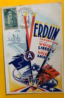 13412  - Verdun Carrefour De La Voie De La Liberté Et De La Voie Sacrée 20.09.1947 - 1940-49