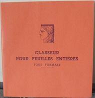 CERES - CLASSEUR Pour FEUILLES ENTIERES De Timbres Jusqu'à 295x310 Mm (REF. GM) - Album Per Fogli Interi