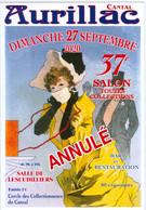 Aurillac Cantal Carte  D'entrée Du 37ème Salon Des Collectionneurs De 2020 Annulé (port 1,10 €) - Aurillac