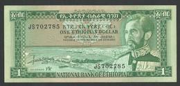 ETHIOPIA 1 DOLLAR 1966 PICK 25a UNC / NEUF - Ethiopia