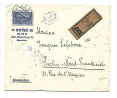 R-BRIEF WIEN 20.V.1922 Nach SECLIN (FRANCE)  10X 5 Kr + 2x15 Kr + 2x25 Kr + 1 X 20 Kr  2scans - Non Classés