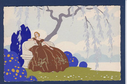 CPA Art Déco Femme Woman Pochoir Non Circulé éditeur Ars Nova Type MESCHINI - 1900-1949