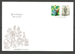 Norway 2002 From Fairytales: Askeladden And Princess, Troll  Mi 1432-1433. FDC - Covers & Documents