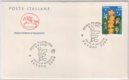 "Italia - 2000 - FDC Cavallino ""Europa""  MNH**  (rif. 2515 Cat. Unif.) - F.D.C."