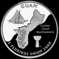 USA 25 Cents (quarter) 2009 D States And Territories - Guam UNC (KM # 447) - 1999-2009: State Quarters