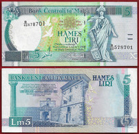 MALTA BANKNOTE - 5 LIRI L.1967 (1994) KM#46d XF (NT#01) - Malta