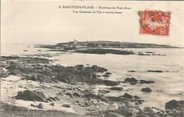 29 RAGUENES PLAGE VUE GENERALE DE L ILE A MAREE BASSE AOUT 1913 - Altri Comuni